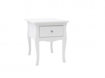 Birlea Paris 1 Drawer Bedside In White