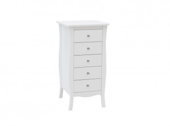 Birlea Paris 5 Drawer Chest In White