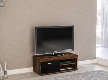 Birlea Edgeware Small TV Unit In Walnut And Black