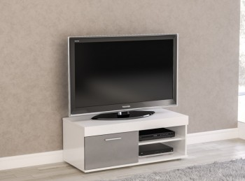 Birlea Edgeware Small TV Unit In White And Grey