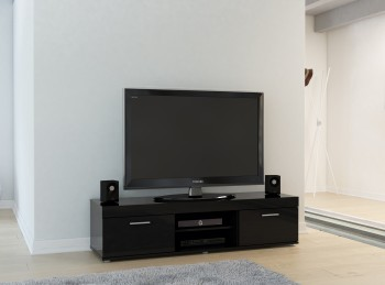 Birlea Edgeware TV Unit In Black
