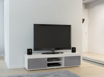 Birlea Edgeware TV Unit In White And Grey