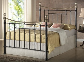 Birlea Bronte 5ft Kingsize Black Metal Bed Frame