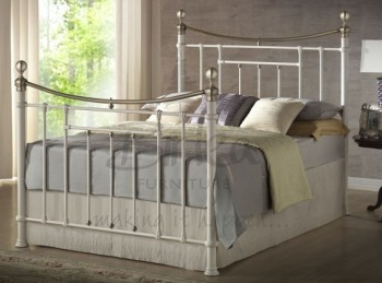 Birlea Bronte 5ft Kingsize Cream Metal Bed Frame