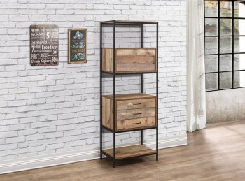 Birlea Urban Rustic Finish 3 Drawer Shelving Unit