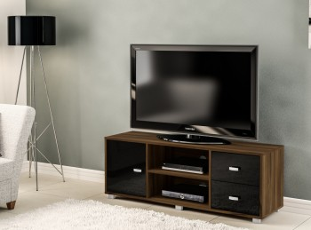 Birlea Covent TV Unit In Walnut And Black