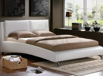 Birlea Carnaby White 4ft6 Double Faux Leather Bed Frame
