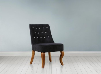 Birlea Darcey Chair In Black Fabric