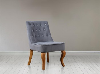 Birlea Darcey Chair In Grey Fabric