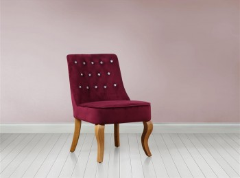 Birlea Darcey Chair In Plum Fabric