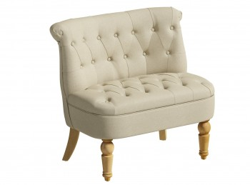 Birlea Grace Snuggle Chair In Beige Fabric