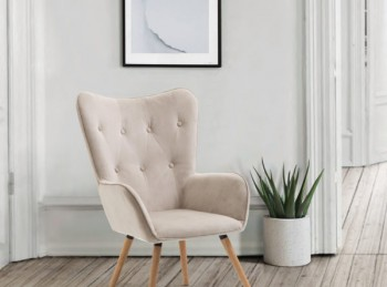 Birlea Willow Armchair In Beige Fabric
