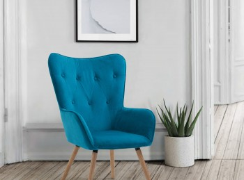 Birlea Willow Armchair In Sapphire Fabric