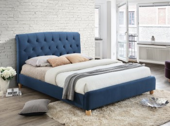Birlea Brompton 5ft Kingsize Blue Fabric Bed Frame