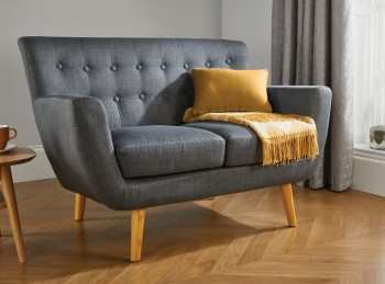 Birlea Loft 2 Seater Sofa In Grey Fabric