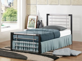 Birlea Faro 3ft Single Silver Metal Bed Frame