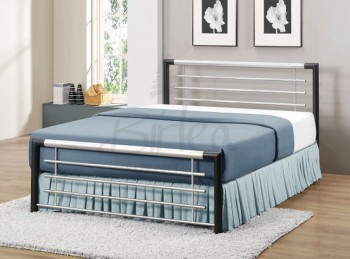Birlea Faro 4ft Small Double Silver Metal Bed Frame