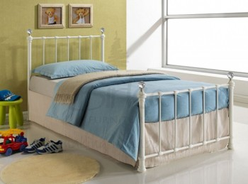 Birlea Atlas 3ft Single Cream Metal Bed Frame By Birlea