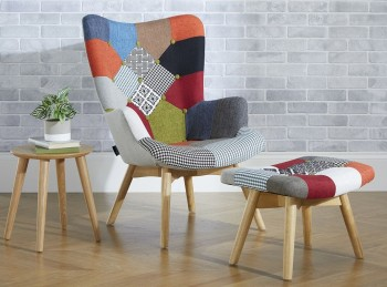 Birlea Sloane Chair In Patchwork Fabric