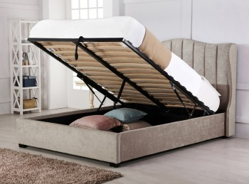 Emporia Sherwood 4ft6 Double Stone Fabric Ottoman Bed