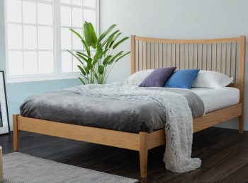 Birlea Berwick 4ft6 Double Oak Wooden Bed Frame