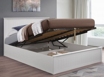 Birlea Fairmont 5ft Kingsize Wooden Ottoman Bed Frame In White