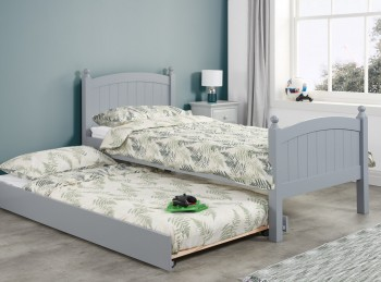 Birlea Whitehaven 3ft Single Grey Wooden Guest Bed