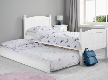 Birlea Whitehaven 3ft Single White Wooden Guest Bed