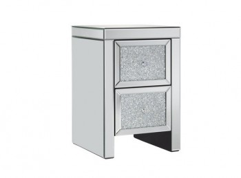 Birlea Vienna 2 Drawer Mirrored Bedside