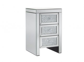 Birlea Vienna 3 Drawer Mirrored Bedside