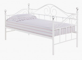 LPD Florence 3ft Single White Metal Day Bed Frame