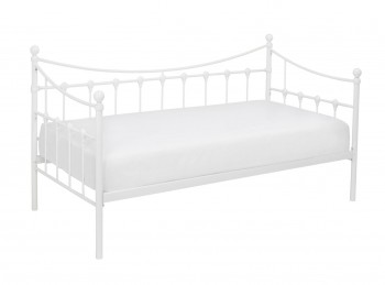 LPD Olivia 3ft Single White Metal Day Bed Frame