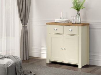 Birlea Winchester 2 Door 2 Drawer Sideboard In Cream And Oak