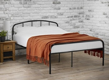 LPD Milton 4ft Small Double Black Metal Bed Frame