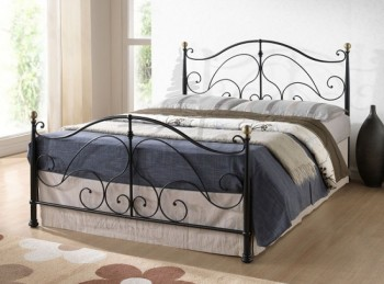 Birlea Milano Black 4ft Small Double Metal Bed Frame