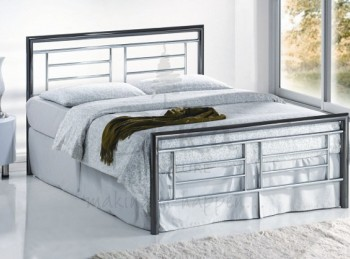 Birlea Montana Chrome and Nickel 4ft6 Double Metal Bed Frame