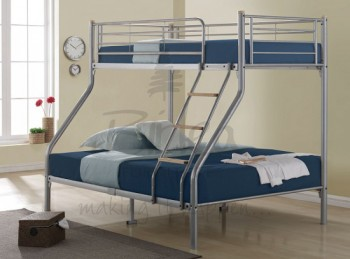 Birlea Nexus Silver Metal Triple Sleeper Bunk Bed