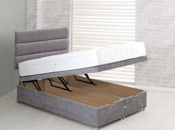 Vogue 5ft Kingsize End Lift Ottoman Bed Base (Choice Of Colours)