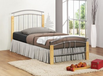 Birlea Tetras 3ft Single Silver Metal Bed Frame