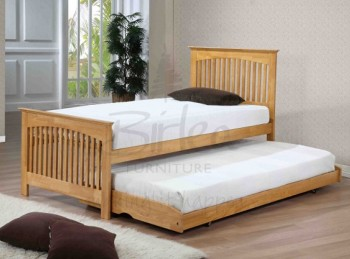 Birlea Toronto 3ft Single Wooden Oak Guest Bed