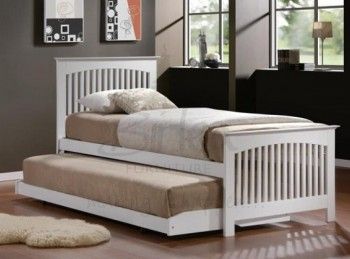 Birlea Toronto 3ft Single White Wooden Guest Bed Frame