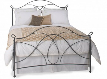OBC Ardo 4ft6 Double Pewter Metal Headboard