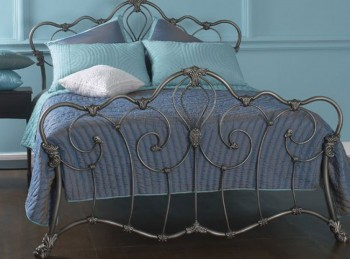 OBC Athalone 6ft Super Kingsize Silver Patina Metal Headboard