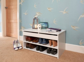 GFW Budget Shoe Cabinet in White