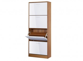 LPD Strand 4 Drawer Shoe Cabinet In White Gloss