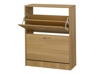 LPD Nova 2 Drawer Shoe Cabinet In An Oak Finish