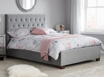 Birlea Cologne 5ft KIngsize Grey Fabric Bed Frame