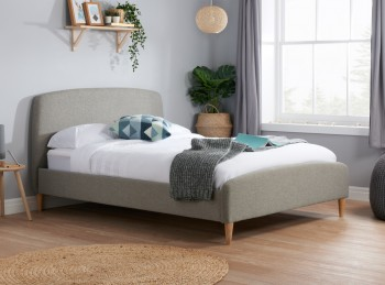 Birlea Quebec 5ft Kingsize Grey Fabric Bed Frame