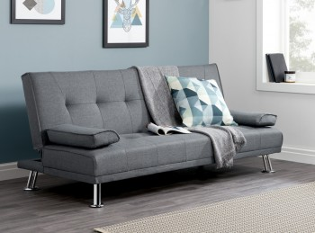 Birlea Logan Grey Fabric Sofa Bed