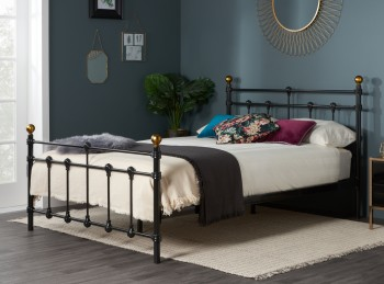 Birlea Atlas 4ft6 Double Black Metal Bed Frame